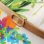 GanLan Basic เดรส ผ้าชีฟองเนื้อผสม พิมพ์ลายดอกไม้ พร้อมเข็มขัดหนัง thumbnail 3