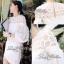 Lady Ribbon Mini Dress เดรสแขนยาว ซีทรูดีเทลอกฉลุรังผึ้ง thumbnail 3