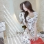Seoul Secret Colorful Jewel Print Gold Bead Furnish Dress thumbnail 3