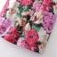 ASOS/GANLAN เดรสสั้น ผ้าพิมพ์ลายดอก สีสดใส ไซส์ S M L thumbnail 7