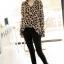 Animal Print Fashion เสื้อเชิ้ตผ้าชีฟอง พิมพ์ลาย Leopard thumbnail 3