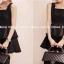 Partysu Layer Trim Dress เดรสแขนกุดกระโปรงระบายเป็นชั้นๆ thumbnail 2