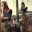 Lady Ribbon Fluffy Maxi Dress แม็กซี่ผ้ายืด กระโปรงผ้าซีทรู thumbnail 6