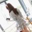 Cherry KOKO ชุดเดรสสีเทา กระโปรงแต่งระบายเป็นชั้นๆ thumbnail 7