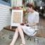 Lady Ribbon Lace Embroidery Dress เดรสลูกไม้ฉลุ ผ้าซีทรู thumbnail 3