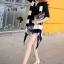 Seoul Secret เสื้อกั๊กไหมพรมแขนกุด ทรงหน้าสั้น หลังยาว thumbnail 2