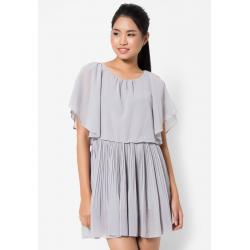 ชุดเดรส Ruffle Layered Chiffon Pleated