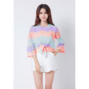 เสื้อเบลาส์ Pastel Lace