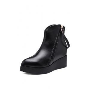 รองเท้าบู๊ท Platform Zipper Ankle Boots