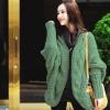 เสื้อคาร์ดิแกน Bat-type Knit Pure Jacquard