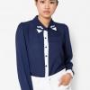 เสื้อเชิ้ต Paisley Embroidered Collar