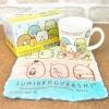 ชุดแก้ว+ผ้าเช็ดหน้า Sumikko Gurashi สีขาว