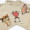 ผ้าสักหลาดเกาหลี ลายปกกระเป๋าสตางค์กระดาษ size 2mm (Pre-order) ขนาด 19x22 cm มี 5 แบบ
