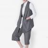 เซ็ทเสื้อเบลเซอร์และกางเกง Wind Vertical Stripe Suit Vest