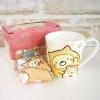 ชุดแก้ว+ผ้าเช็ดหน้า Sumikko Gurashi แมวสีขาว