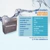 ตู้ทำน้ำเย็นแสตนเลสหน้าเรียบ ขนาด130x50x125 1/2แรง ขนาด 6ก็อก จุ90ลิตร