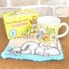 ชุดแก้ว+ผ้าเช็ดหน้า Sumikko Gurashi สีเหลือง