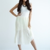 Maxi Pleat Dress - Beige