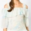 เสื้อเบลาส์ Pastel Rainbow Cold Shoulder