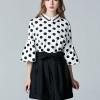 เสื้อเบลาส์ Polka Dot Bell Sleeve