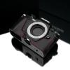 Gariz Leather Half-case for Olympus E-M5 II : Black&red stich