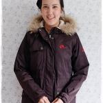 ((ขายแล้วครับ))((คุณสุวรรณาจองครับ))ca-2922 เสื้อโค้ทกันหนาวผ้าร่มสีดำอมน้ำตาล รอบอก42