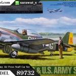 TA89732 P-51D Mustang & U.S. Army Air Froce Staff Car Set 1/35