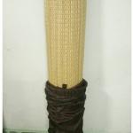 เสื่อกกลำต้น แบบม้วน สีธรรมชาติ กุ้นขอบ ขนาด 120cm.x200cm.(มีถุงผ้า)