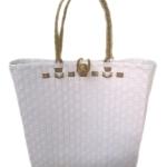 กระเป๋า ก้นเหลี่ยม หูสีน้ำตาล (AU-F11)ขนาดโดยประมาณ กว้าง 10 cm.ยาว 35 cm.สูง 34 cm.
