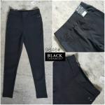 กางเกงสกินนี่เอวสูง BLACK TARAMIZU สีดำ #9846-01