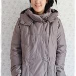 ((ขายแล้วครับ))((คุณสันต์ศุจีจองครับ))ca-2909 เสื้อโค้ทขนเป็ดสีเทาเหลือบเขียว รอบอก44