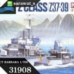 TA31908 GERMAN Z CLASS (Z37-39) PROJECT BARBARA 1/700