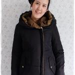 ((ขายแล้วครับ))((จองแล้วครับ))ca-2920 เสื้อโค้ทขนเป็ดสีดำ/ขี้ม้า รอบอก