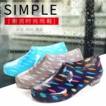 รองเท้ายางกันน้ำ Waterproof Crystal Transparent