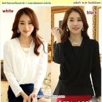 Preorder เสื้อผ้าชีฟองไซส์ใหญ่ สีขาว ดำ XL-3XL
