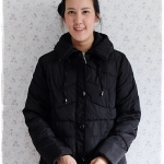 ((ขายแล้วครับ))((คุณKoyจองครับ))ca-2925 เสื้อโค้ทผ้าร่มสีดำ รอบอก44