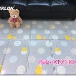 แผ่นรองคลาน Parklon แบบพับได้ PE Folding Mat ลาย Baby KKO KKO ขนาด 140*200 หนา 1.0cm ส่งฟรี EMS
