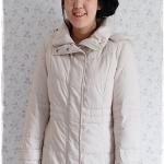 ((ขายแล้วครับ))((คุณSuchittraจองครับ))ca-2895 เสื้อโค้ทขนเป็ดสีครีม รอบอก38