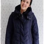 ((ขายแล้วครับ))((จองแล้วครับ))ca-2921 เสื้อโค้ทขนเป็ดสีกรมท่า รอบอก42
