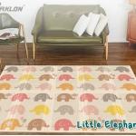 แผ่นรองคลาน Parklon แบบพับได้ PE Folding Mat ลาย Little Elephant ขนาด 140*200 หนา 1.0cm ส่งฟรี EMS