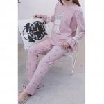 เสื้อให้นมสีชมพู+กางเกงขายาว