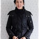 ((ขายแล้วครับ))((จองแล้วครับ))ca-2923 เสื้อโค้ทผ้าร่มสีดำ รอบอก38