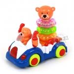 รถชนถอยหมีน้อยดนตรี พร้อมห่วงเรียงซ้อน...(Bear paradise) ฟรีค่าจัดส่ง