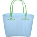 กระเป๋ากลาง ตัวขาว หูสีเขียวตองอ่อน (ATM-F7)