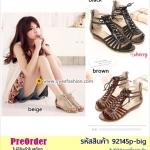 Preorder 92145p-big รองเท้าส้นเตี้ย 40-43