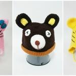 หมวกถักไหมพรม รูปสัตว์น่ารัก ราคาถูก