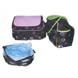 กระเป๋าคุณแม่ เก็บของใช้เด็กอ่อน ยี่ห้อ Attoon สีเขียวและสีชมพู