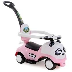 รถขาไถแพนด้า 2 in 1 (รถขาไถ +รถเข็น)สีชมพูอ่อน ฟรีค่าจัดส่ง