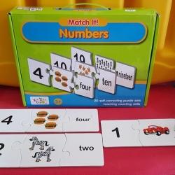 ชุดการ์ดเรียนรู้ การนับตัวเลข 1-20 พร้อมศัพท์ตัวเลข
