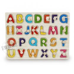 จิ๊กซอว์ไม้เรียนรู้ตัวอักษร A-Z ...ฟรีค่าจัดส่งค่ะ